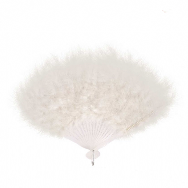 Feather Fan - White